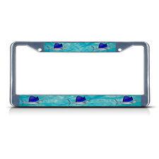 SAILFISH FISHING FISH Chrome Metal License Plate Frame Tag Holder