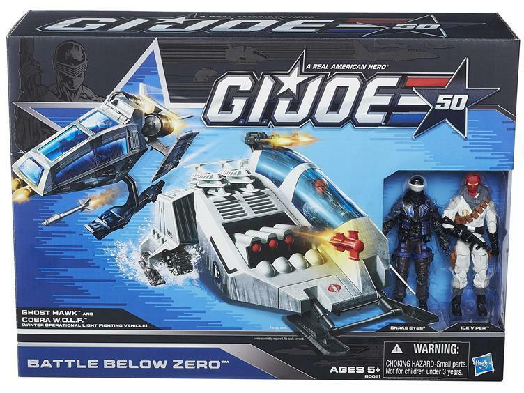 G.I. JOE 50th ANNIVERSARY ZERO BATTLE BELOW ZERO ANNIVERSARY EXCLUSIVE SET SNAKE EYES ICE VIPER 0403e3