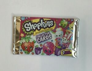 SHOPKINS-COLLECTOR-CARDS-Pack-of-7-cards-New-Sealed-Cards