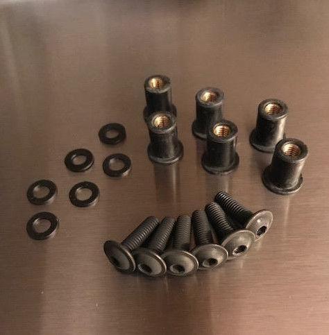 SUZUKI TL1000R 1998-2003 BLACK STAINLESS STEEL SCREEN BOLT KIT