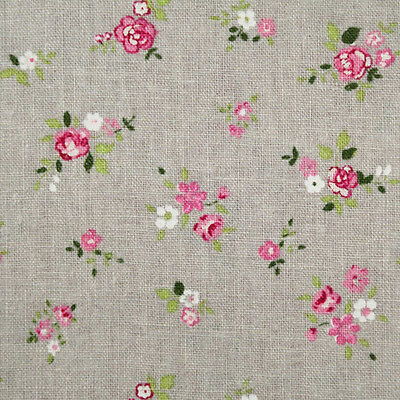 By the 1/2yard or 1yard 100% Cotton-Linen Floral Fabric Gray Sewing Craft f-236