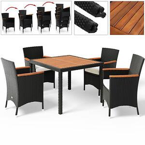 Deuba-Sitzgruppe-Poly-Rattan-Sitzgarnitur-4-1-Gartenmoebel-Essgruppe-Gartenset