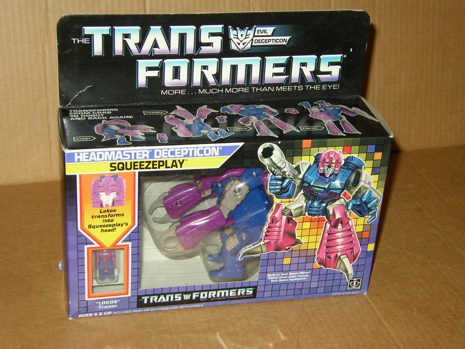 SQUEEZEPLAY MISB Mint in Sealed Box 100% AFA ready Transformers G1