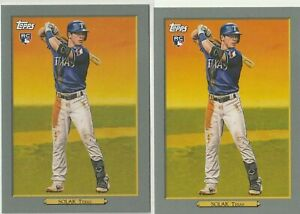 2020-TOPPS-SERIES-TWO-TURKEY-RED-Nick-Solak-Rookie-Card-Texas-Rangers-2-CARD-LOT