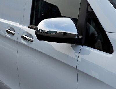Chrome Wing Mirror Trim Set Covers To Fit Mercedes-benz Vito W447 (2015+) Los Clientes Primero