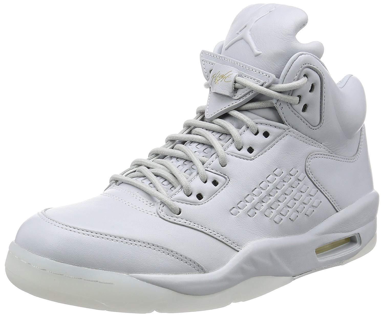 Nike Air Jordan 5 retro Prem Hombre Talla Basketball Zapatos Talla Hombre 12 (Pure Platinum) 778669