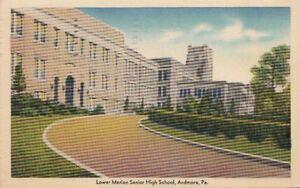 Postcard-Lower-Merion-Senior-High-School-Ardmore-PA-1950