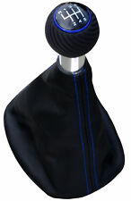 Passend für Seat Toledo 5P  6G blau  ALU Schaltknauf Schaltsack SPORT EDITION