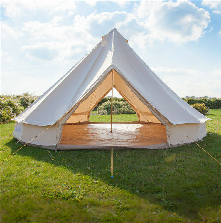 5M Bell Tents Canvas Heavy Duty Double Door British Yurt  Tent Large Family Tents  supply quality product