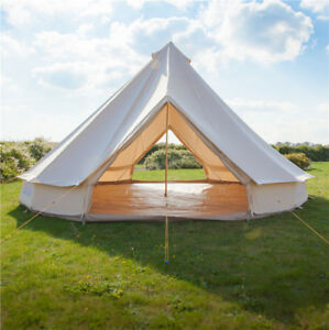 Image is loading 5M-Bell-Tents-Canvas-Heavy-Duty-Double-Door- & 5M Bell Tents Canvas Heavy Duty Double Door British Yurt Tent ...