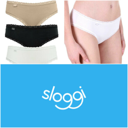 Sloggi Everyday Hipster Briefs 3 Pack Cotton Elastane Knickers 10184028 RRP £15