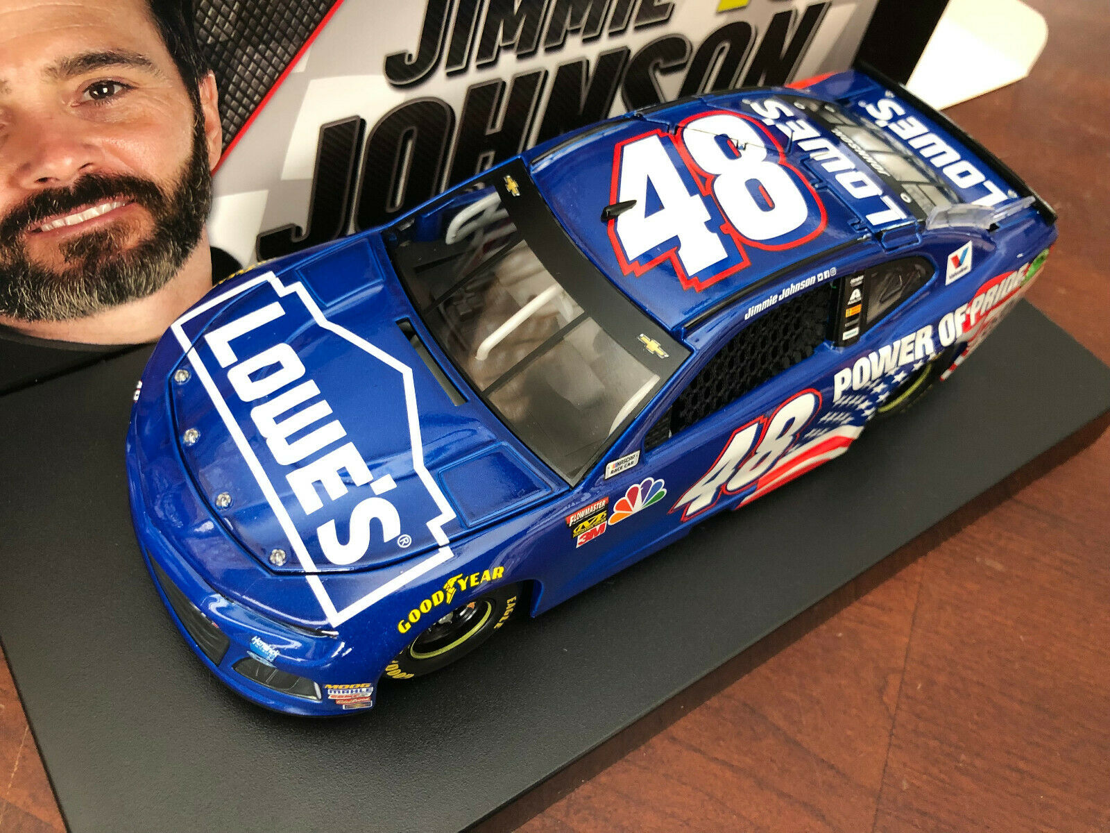 2018 Jimmie Johnson Lowes Power of Pride 2001 Tribute w  Ally ARC car 1 of 421
