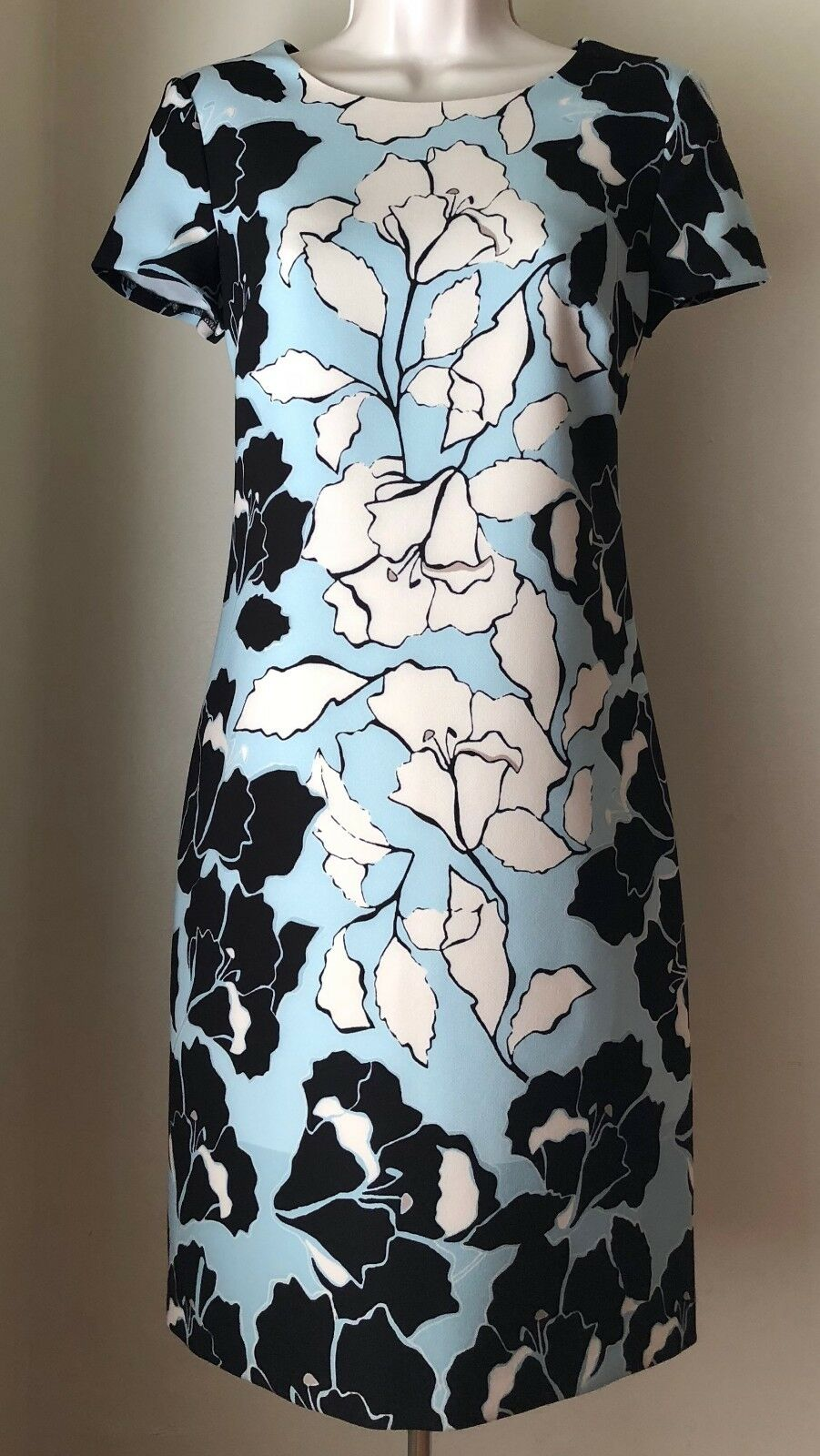 KARL LAGERFELD PARIS Floral Printed Shift Dress L8AB6935 NWT Sz 2, 8, 14