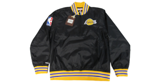 Los Angeles Lakers Mens Sizes Mitchell & Ness 1/3 Zip Pullover Jacket