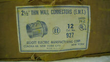"Elliott Electric 2-1/2"" Thin Wall Conduit Connectors #927 EMT SS, Box of 12 -NEW"