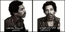 "Mugshot - Jimi Hendrix - Canvas Art Poster. Size: 12"" x 24"""