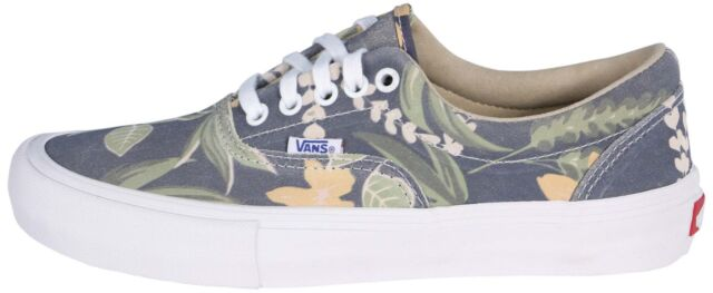 a1309eee94 Vans Off the Wall Era Pro Aloha Blue Floral Mens 6.5 Shoes Sneakers NEW  Suede