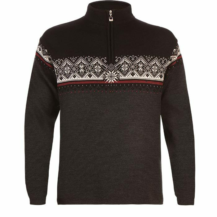 NEW  Dale of Norway Men's Norwegian Wool  ST. MORITZ Sweater Dark Charcoal Rasp.  exclusive