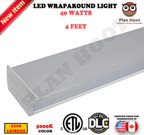 4 FT 40W LED Wraparound Light ETL DLC 5000K Recessed Ceiling Light Fixture