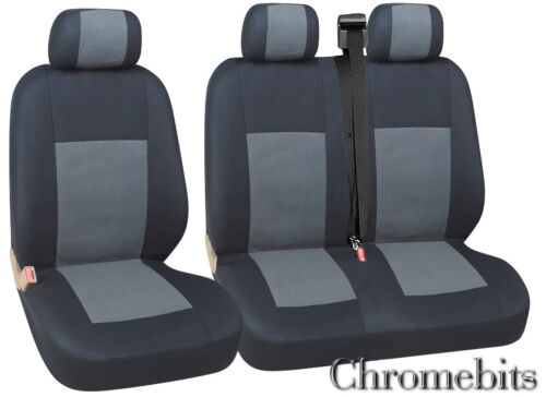 RENAULT TRAFIC MASTER SEAT COVERS GREY BLACK FABRIC   FOR  2+1 VAN