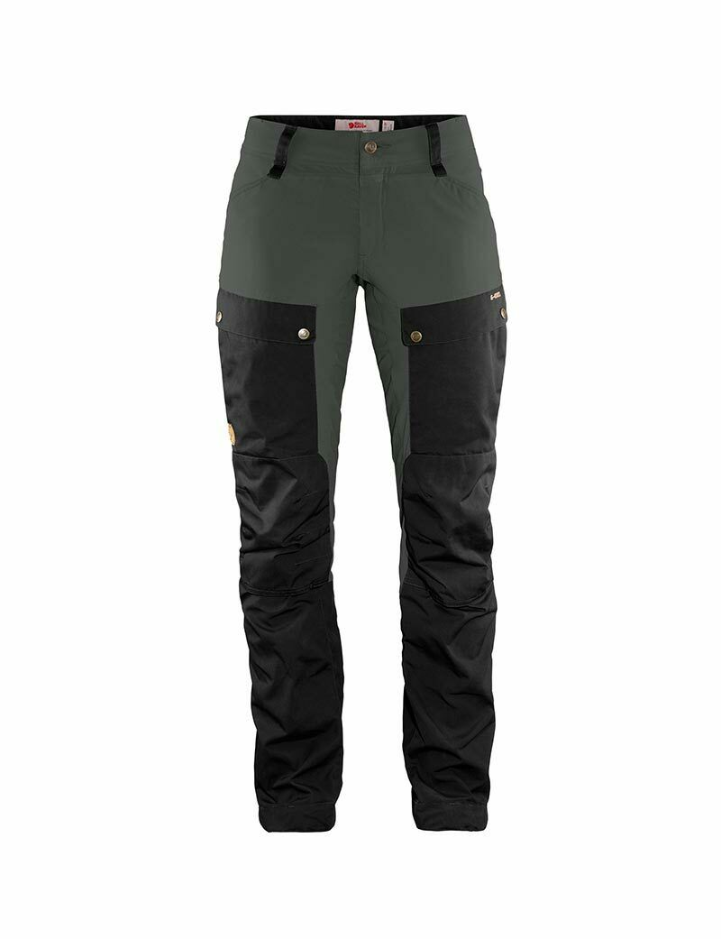 Fjällräven Keb Trousers Damen Outdoorhose Wanderhose black-stone grey