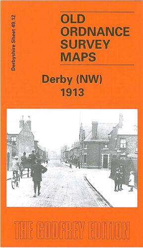 OLD ORDNANCE SURVEY MAP DERBY NW 1913 SLACK LANE FRIARGATE NUNS BRIDGE MARKEATON