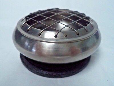 """Dark Brass Censer Incense Burner 3/"""" Screen Top for Charcoal Tablets /& Resin"""