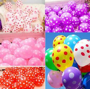 10-X-12-034-INCH-POLKA-DOT-BALOONS-BALLOONS-helium-BALLOONS-Party-Birthday-Wedding