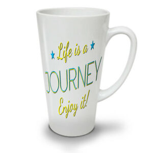 Life Journey NEW White Tea Coffee Latte Mug 12 17 oz | Wellcoda