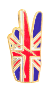 United Kingdom Union Jack Victory V Pin Badge