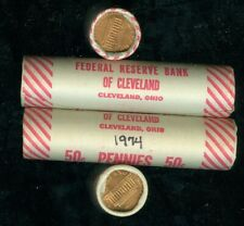 1974-S LINCOLN CENT ORIGINAL BANK WRAPPED ROLL  GEM BU  ALL