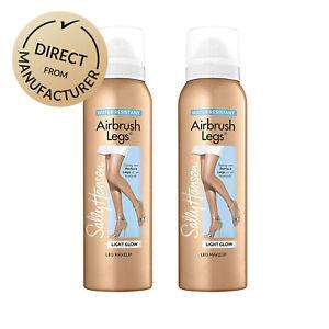 Sally-Hansen-Airbrush-Legs-Self-Tan-Spray-Leg-Make-up-Various-shades-2-x-Pack