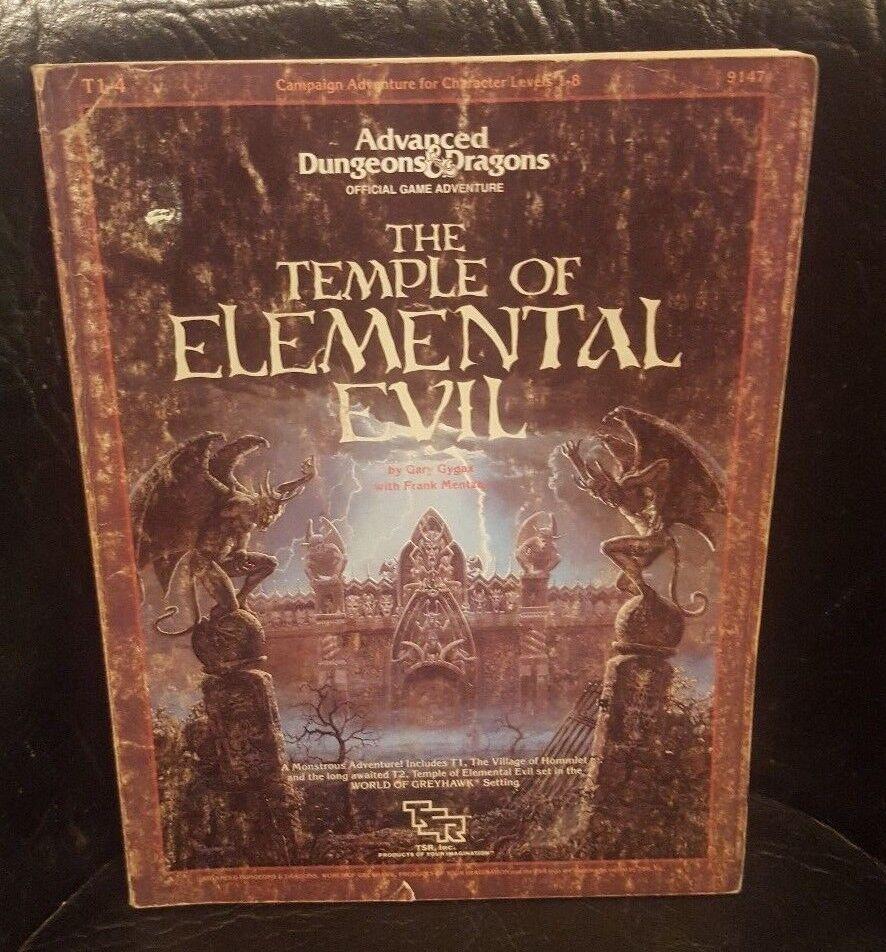 Advanced Dungeons y dragones Templo del Mal Elemental AD&D