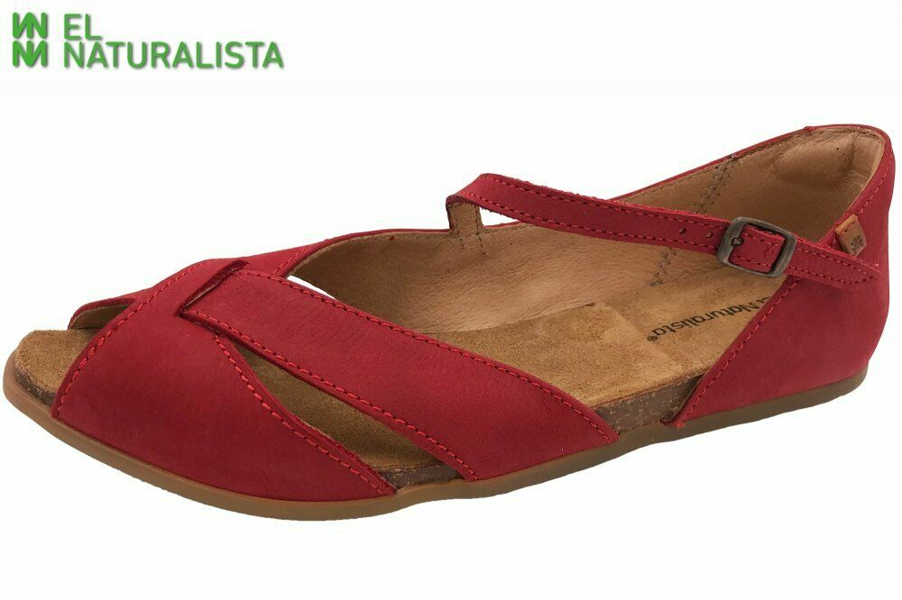 El Naturalista Stella Sandale Rot Schuhe Leder N5202-LP-Tibet