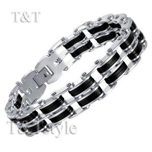 T-amp-T-316L-Stainless-Steel-Link-Bracelet-BBR131