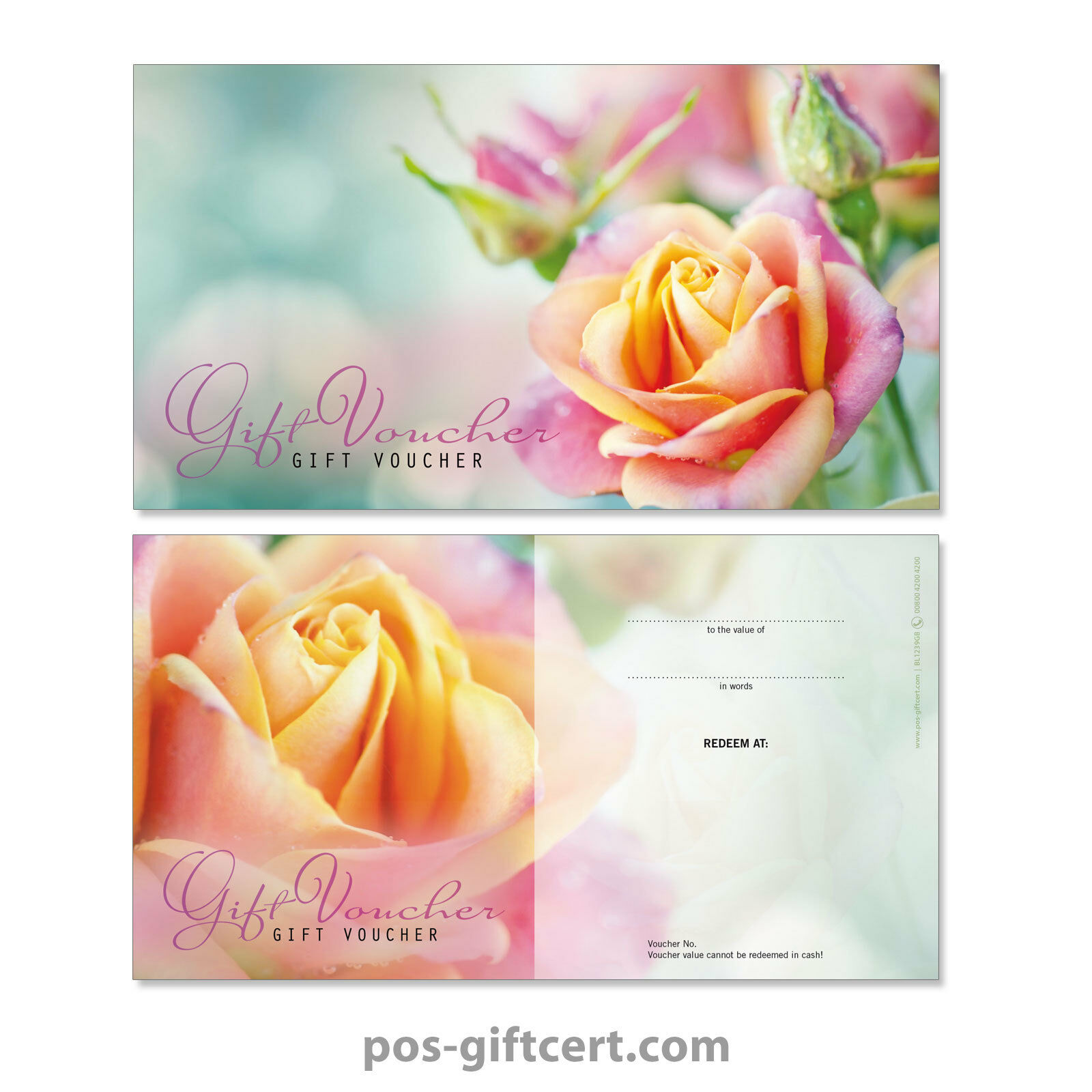 Universal gift vouchers for all occasions, flowers BL1239GB | Wunderbar