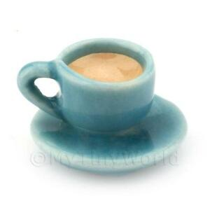 Dolls-House-Miniature-Handmade-Cup-of-Coffee-Tea-Aqua-Ceramic