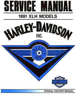 Image Is Loading 1991 HARLEY DAVIDSON XLH SPORTSTER MODELS SERVICE MANUAL