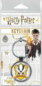 Harry-Potter-Hufflepuff-Charms-Round-Keychain