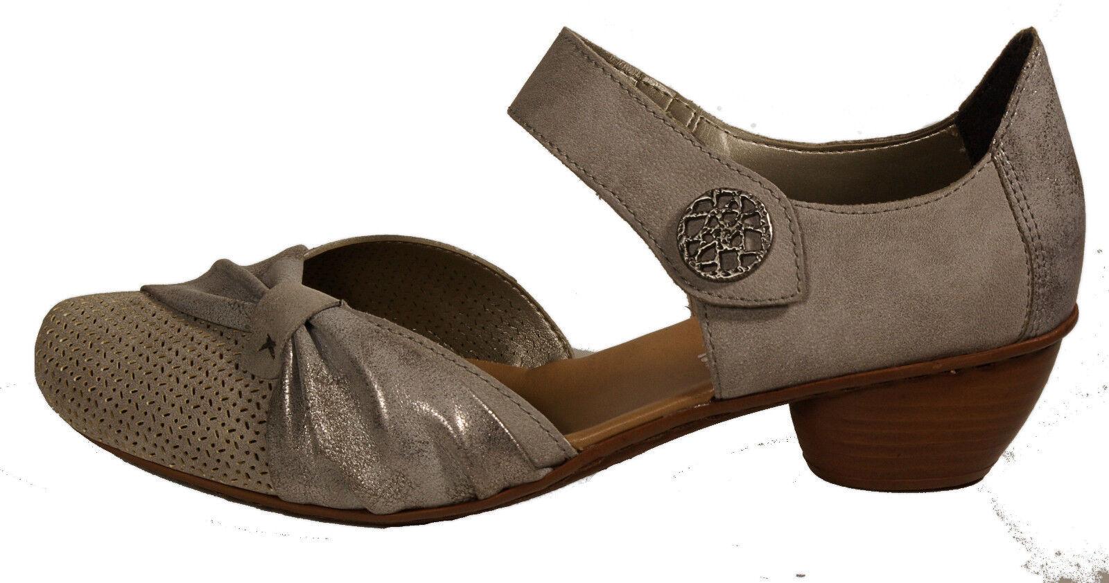 RIEKER Schuhe Pumps  Mary Jane   silber grau metallic   NEU6