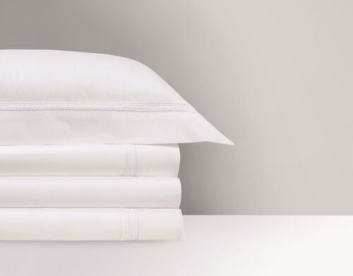 FRANCE YVES DELORME ROMA COTTON PERCALE PILLOW SHAM IN 500 THREAD COUNT