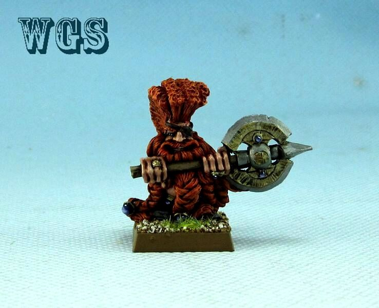 25mm Warhammer Fantasy WGS painted Dwarf Daemon Slayer with Great Weapon DW045