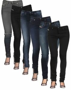 8e089a05 Ladies Diesel Super Slim Skinny Jeans Skinzee in Blue and Black ...