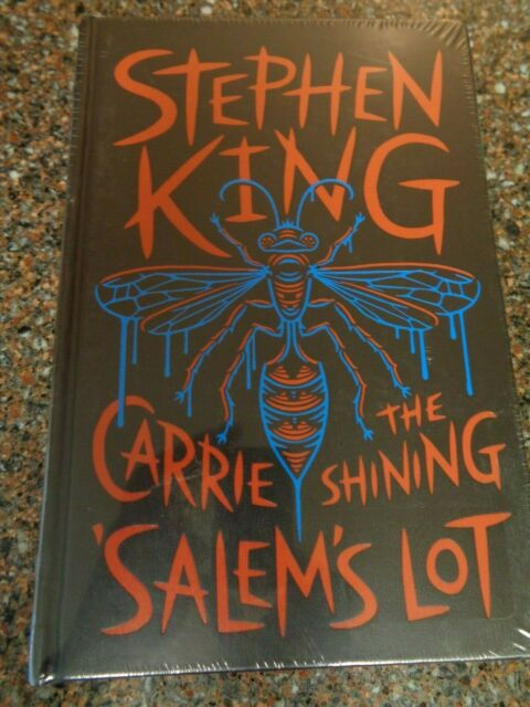 Stephen King 3 Novels (Sealed, Hardcover Leatherbound Classic) Carrie, Shining