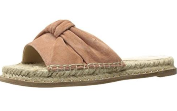 125 size 6 Kendall + Kylie Vira Natural Suede Espadrille Slide Womens Sandals