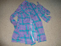 Adonna Lavender And Turquoise Polyester Soft Robe Size Large