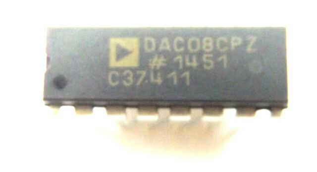 DAC08CP DAC08CPZ DAC08 1-CH Analog Devices Current Steering 8-bit 16-Pin PDIP