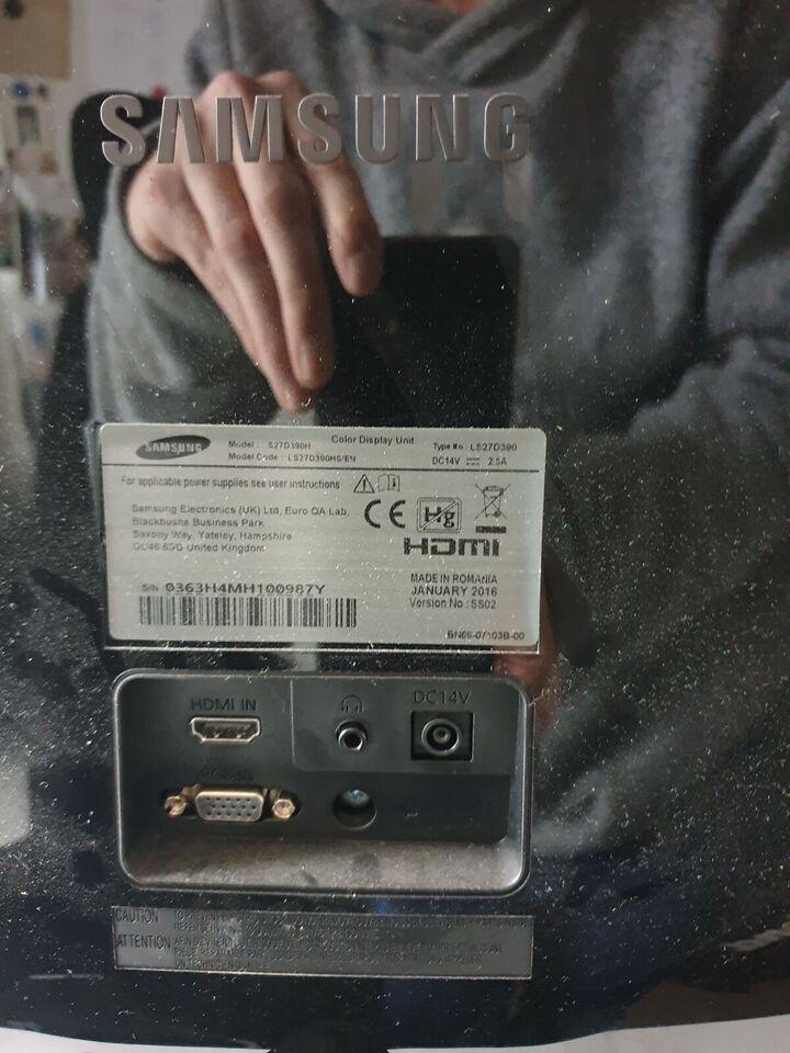 Samsung, fladskærm, S27D390H