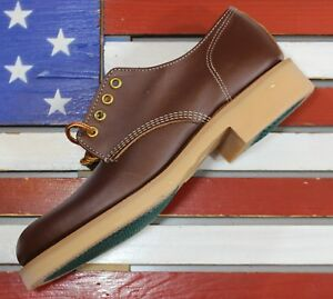 THOROGOOD-Beloit-Low-Oxford-Soft-Brown-Work-Boots-Union-Made-in-America-USA-452