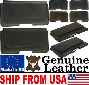 CHIC-HORIZONTAL-GENUINE-LEATHER-BELT-LOOP-HOLSTER-POUCH-CASE-FOR-MOBILE-PHONES